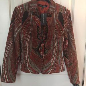 Anne Klein Print Blazer Jacket Size 6